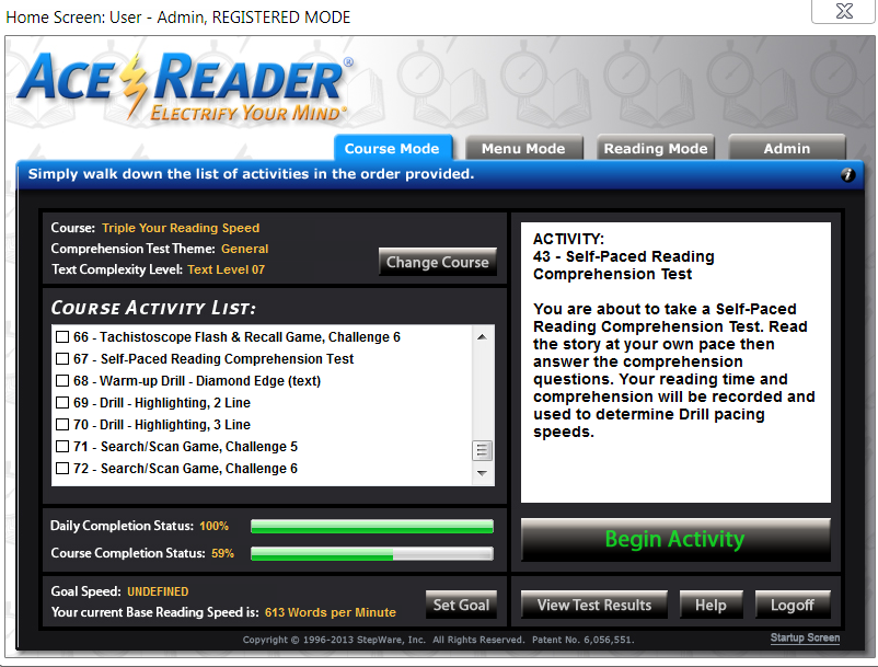 Ace Reader - Speed Reading Software ReviewStarglider Systems