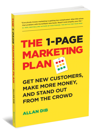 1 Page marketing plan cover